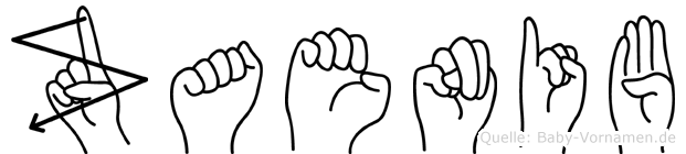 Zaenib in Fingersprache für Gehörlose