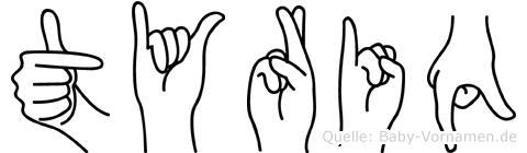 Tyriq in Fingersprache für Gehörlose