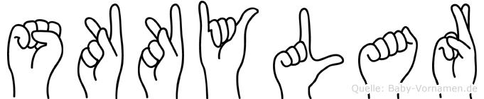 Skkylar in Fingersprache für Gehörlose