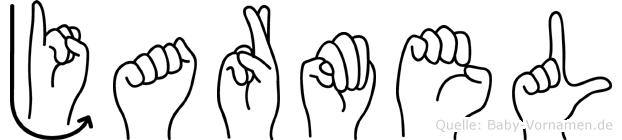 Jarmel im Fingeralphabet der Deutschen Gebärdensprache