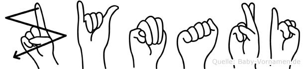 Zymari in Fingersprache für Gehörlose
