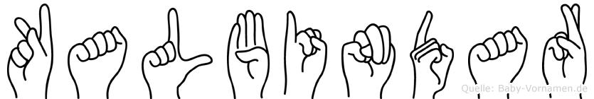 Kalbindar in Fingersprache für Gehörlose