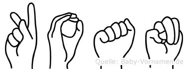 Koan in Fingersprache für Gehörlose