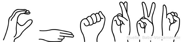 Charvi im Fingeralphabet der Deutschen Gebärdensprache