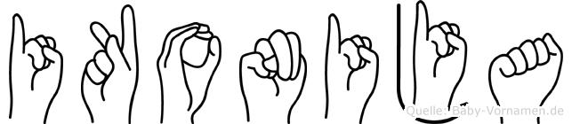Ikonija in Fingersprache für Gehörlose