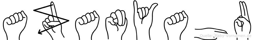 Azanyahu in Fingersprache für Gehörlose