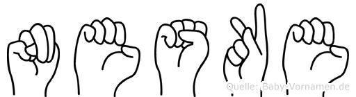Neske in Fingersprache für Gehörlose