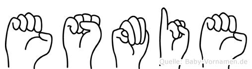 Esmie im Fingeralphabet der Deutschen Gebärdensprache