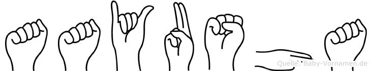 Aayusha in Fingersprache für Gehörlose