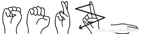 Serzh in Fingersprache für Gehörlose