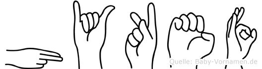 Hykef in Fingersprache für Gehörlose