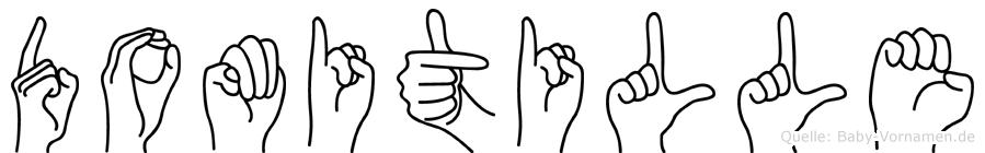 Domitille im Fingeralphabet der Deutschen Gebärdensprache