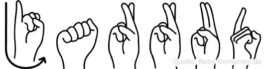 Jarrud im Fingeralphabet der Deutschen Gebärdensprache