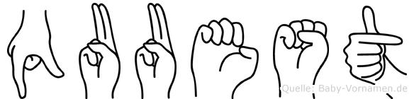 Quuest im Fingeralphabet der Deutschen Gebärdensprache