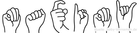 Maximy in Fingersprache für Gehörlose