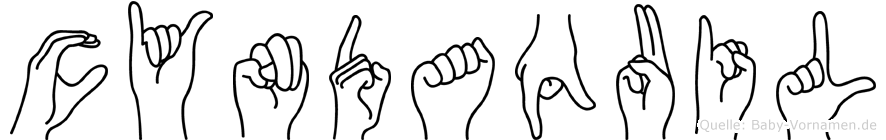 Cyndaquil im Fingeralphabet der Deutschen Gebärdensprache
