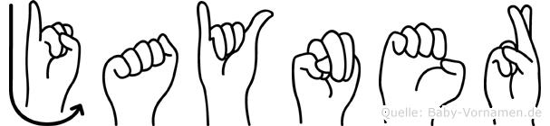 Jayner in Fingersprache für Gehörlose