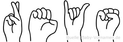 Reys im Fingeralphabet der Deutschen Gebärdensprache