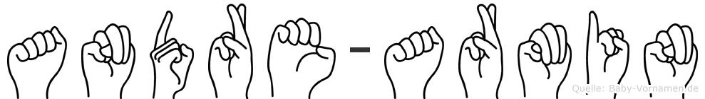 Andre-Armin im Fingeralphabet der Deutschen Gebärdensprache