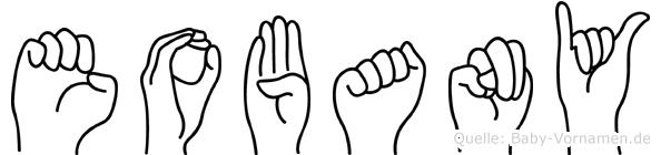 Eobany im Fingeralphabet der Deutschen Gebärdensprache