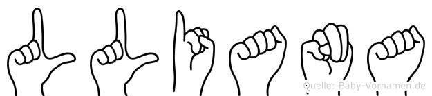 Lliana in Fingersprache für Gehörlose