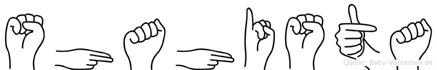 Shahista in Fingersprache für Gehörlose