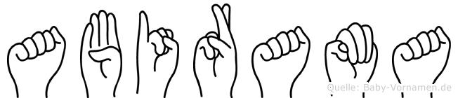 Abirama in Fingersprache für Gehörlose