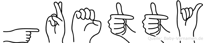 Gretty in Fingersprache für Gehörlose