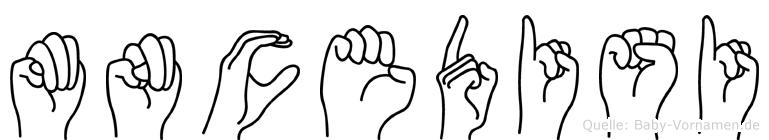 Mncedisi in Fingersprache für Gehörlose