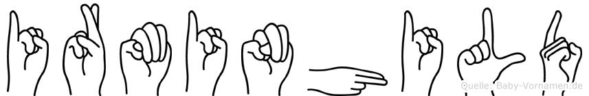 Irminhild in Fingersprache für Gehörlose