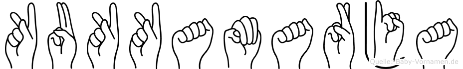 Kukkamarja in Fingersprache für Gehörlose