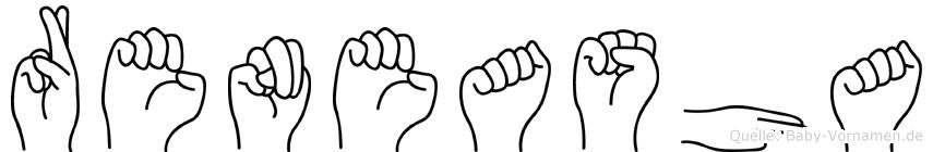 Reneasha in Fingersprache für Gehörlose