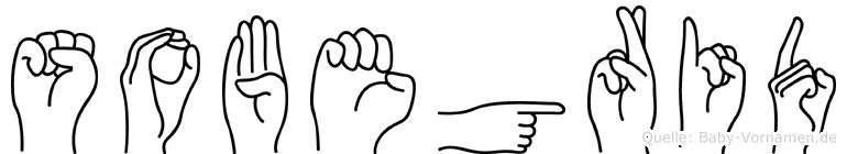 Sobegrid im Fingeralphabet der Deutschen Gebärdensprache