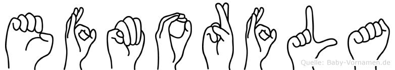 Efmorfla in Fingersprache für Gehörlose