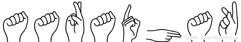 Aaradhak in Fingersprache für Gehörlose