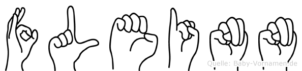 Fleinn im Fingeralphabet der Deutschen Gebärdensprache