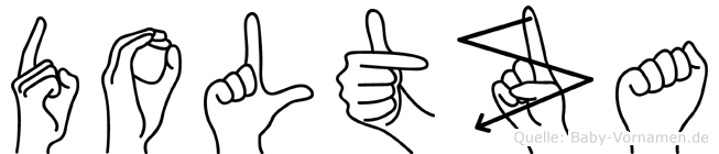 Doltza in Fingersprache für Gehörlose