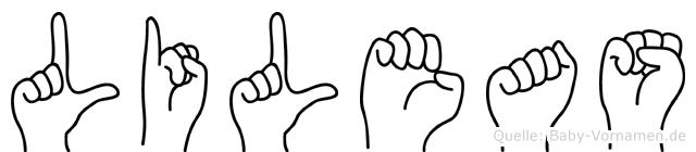 Lileas im Fingeralphabet der Deutschen Gebärdensprache