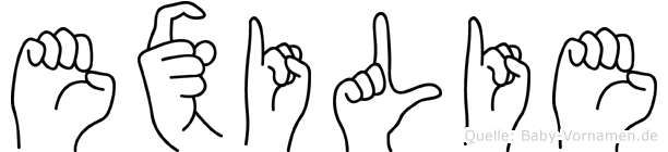 Exilie in Fingersprache für Gehörlose