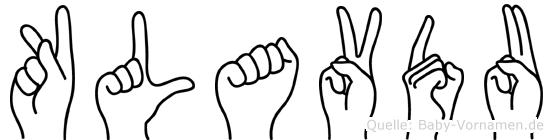Klavdu in Fingersprache für Gehörlose