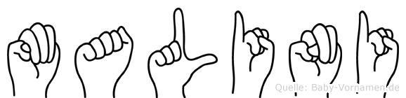Malini in Fingersprache für Gehörlose