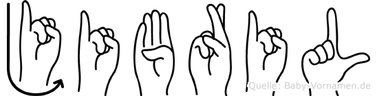 Jibril im Fingeralphabet der Deutschen Gebärdensprache