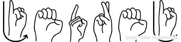 Jedrej in Fingersprache für Gehörlose