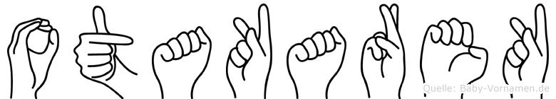 Otakarek im Fingeralphabet der Deutschen Gebärdensprache