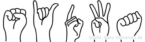 Sydwa im Fingeralphabet der Deutschen Gebärdensprache