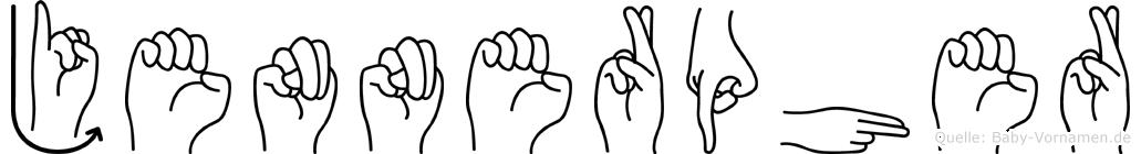 Jennerpher in Fingersprache für Gehörlose