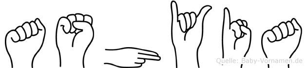 Ashyia in Fingersprache für Gehörlose