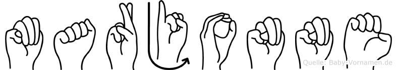 Marjonne in Fingersprache für Gehörlose