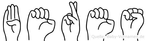 Beres in Fingersprache für Gehörlose
