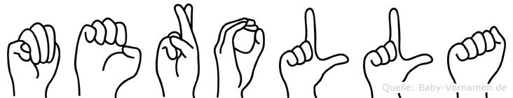 Merolla im Fingeralphabet der Deutschen Gebärdensprache